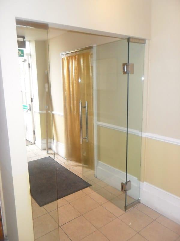 Deal Internal Door And Side Panels Frameless Glass Bi Fold Doors