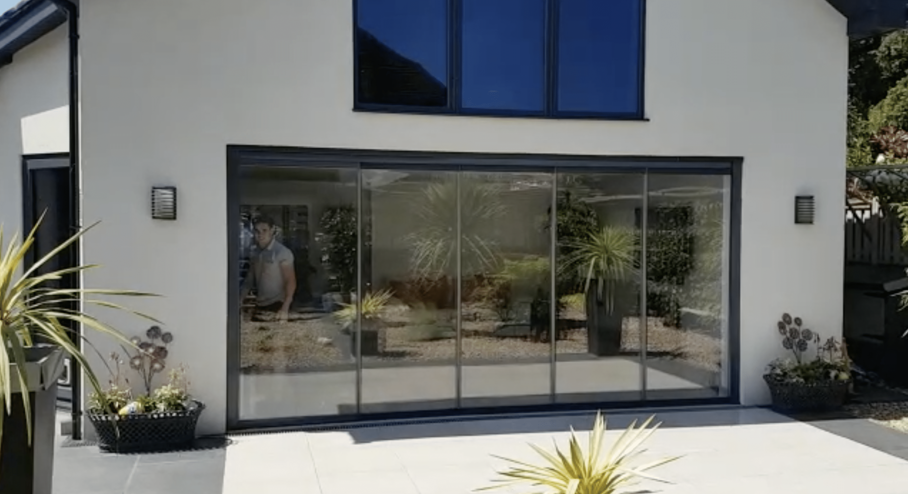 Frameless Slide Fold Double Glazed Doors Fgc